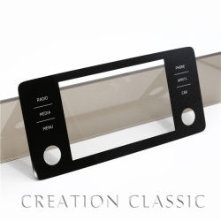 Affichage LCD à écran tactile couvercle verre trempé pour surveiller l'équipement industriel