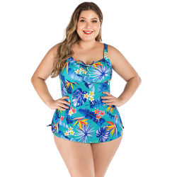 サイズのセクシーな女性水着の女性と大きい水着脂肪質の女の子のビキニ2部分の水着の