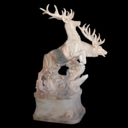 Jardin de sculpture sur pierre Sculpture Animal Deer statues en marbre