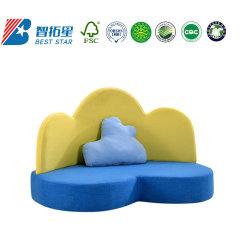 تصميم كرتونية من القماش وأريكة للأطفال وأريكة للأطفال في روضة أطفال