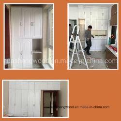 Filme de PVC com núcleo de MDF Roupeiro Porta e PVC da porta do gabinete
