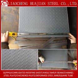 Commerce de gros carbone doux Q235B Plaque en acier à damiers Tear Drop