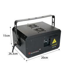 RGB 5W RGB de animación de diodo láser RGB completa