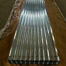 Dx51D Z30-Z275 Médios Quente Spangle Regular a folha de telhas de aço galvanizado de Papelão Ondulado