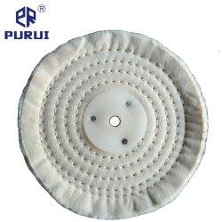금속을%s 플라스틱 세탁기를 가진 백색 스티치 면 담황색으로 물들이는 닦는 바퀴