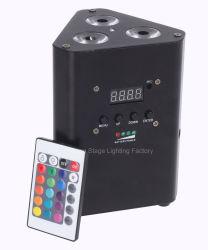 4В1 RGBW батареи Плоский беспроводной связи для использования внутри помещений PAR лампа