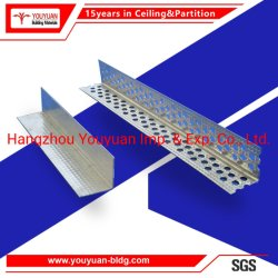 乾式壁によって電流を通される軽い鋼鉄区分の金属はJのトリムのコーナービードの端の中断された天井の側壁角の側面図を描く