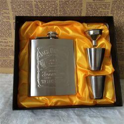 Bottiglia Hip portatile Pocket di Wisky della tazza del vino della boccetta 7oz dell'acciaio inossidabile con la mini bottiglia dell'alcool di Drinkware della casella per i regali degli uomini del bevitore