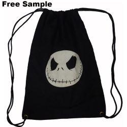 Logo imprimé personnalisé durables en toile de coton sac à dos Sac avec lacet de serrage
