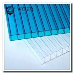 جدران مزدوجة مواد البناء البلاستيكية بولي كربونات الورق ومواد البناء المسببة للاحتباس الحراري