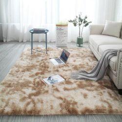 Nordic Ins Gradiente Tie-Dye Vento Sala mesa de café Mat Cabelo comprido à beira do quarto completo tapetes de pelúcia personalizada