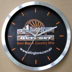 Металлические часы, алюминий часы, настенные часы с часами изготовленный на заказ<br/> диск набора команд для рекламных подарков