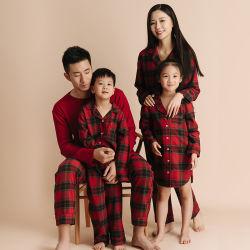 Fils de coton 100%/Groupe de la famille teints pyjamas, des femmes, hommes, Kid's Sleepware PJ, Noël