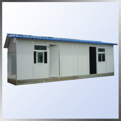 Goed geïsoleerd onroerend goed goed goed goed ontworpen Flat Roof Prefab House