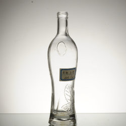 250ml 500ml 750ml liquide Flacon en verre de whisky Brandy utilisé