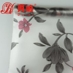 Octki Hot Sale fleurs Vitre auto-adhésif PVC Film