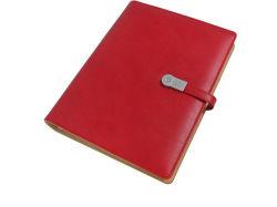 Couro PU Custom Planejador do organizador com cor vermelha