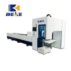 Beke runder Typ Gefäß CNC-Faser-Laser-Ausschnitt-Maschinen-Metallgefäß-Laser-Scherblock