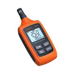 Yw-201 디지털 습도계 열습도계 이슬점 온도 및 습도 미터 백라이트 대형 LCD 디스플레이 포함