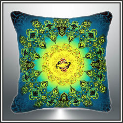 Chat noir fond rose Design Digital Oxford coussin imprimé