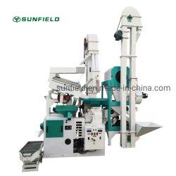 Sunfield 20 tpd macchine automatiche combinate per la fresatura del riso lavorazione del grano di papà Macchine con riso Whitner Destoner Husker