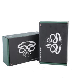 Regalo impreso Estrellas pequeñas cajas de papel para la joyería Ver paño cosméticos