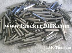 Hexagonal de titanio/Rectangular Orificio roscado Ajuste la tuerca Gr2 M3 M4