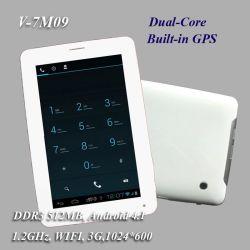 7 Pulgadas de Doble Núcleo PC Tablet 3G con GPS Bluetooth y la Pantalla de HD