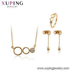 Conjunto de joyas de aleación de oro Flower-Shaped