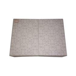 Caixa de Papelão Ondulado plana branca Caixa de papel com decoração simples