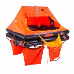 U digita ad yacht l'auto approvato CISLM gonfiabile della manovella della zattera di salvataggio fuori bordo che gonfia la persona della zattera di salvataggio 4