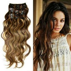 Bellezza Brasiliano Human Hair Extension clip estensione capelli Vergine Brasiliana Capelli umani