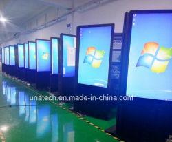 Для использования внутри помещений рекламные вывески с двойной дисплей с сенсорным экраном со стороны средств массовой информации видео цифровой ЖК монитор