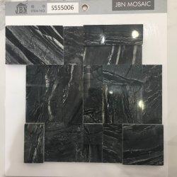 Mosaico nero del marmo del granito di Nero del materiale da costruzione della decorazione di modo