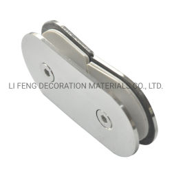 Acier inoxydable 180° salle de douche en verre ronde clip fixe/salle de bain pour le verre de charnière de porte accessoires matériels