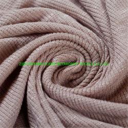 t-셔츠 털실에 의하여 염색되는 니트 단 하나 저어지 조방사 면 줄무늬 니트 직물