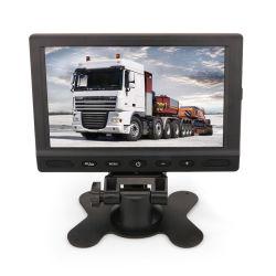 Ecran LCD TFT 7'' DC 12V Moniteur Vue arrière du moniteur de voiture avec 2 canaux Entrée vidéo pour voiture caméra de recul