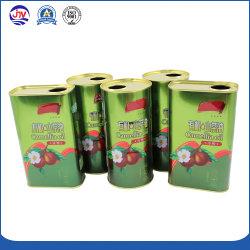 Commercio all'ingrosso lle caselle commestibili del 1 di litro di oliva dell'olio barattolo di latta