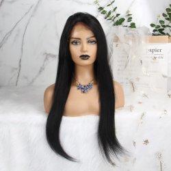 Nettes Elf wellenförmiges peruanisches Remy Menschenhaar-volle Perücken für schwarze Frauen-roter kurzer gerader Schnitt-natürliches Haar