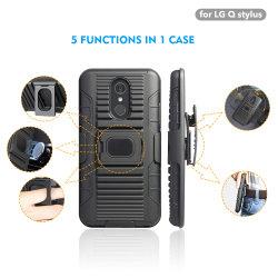 2018 el clip de cinturón Kickstand celular de LG Q Lápiz Óptico Combo funda.