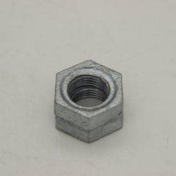Galvanisiertes Rohrfitting, das formbares Eisen-Gegenmutter wirft