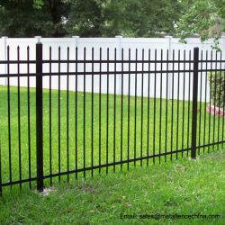장식용 블랙 파우더 코팅 갈바니ized Steel Wrought Iron Garden Fence