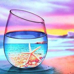 가득 차있는 사각 또는 둥근 교련 DIY 바다 경치 다이아몬드 색칠 아이 성인 자수 십자가 스티치 홈 장식 선물