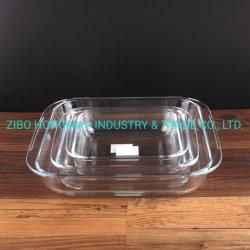 3000ml 1800ml 1100ml 3PCS Cookeware verre carrées dîner ensemble des ustensiles de cuisson