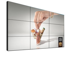 حلول حائط الفيديو شاشة رقمية 3.5 مم 65 بوصة إطار UTRA ضيق بدون أي مشاكل، حائط فيديو LCD 3×3