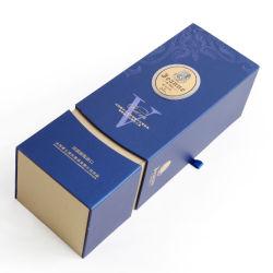 工場価格カスタムプリント2フリップは単一のびんのワインのペーパーギフトの包装ボックスを設計する