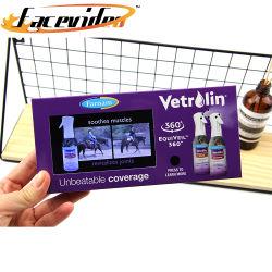Nova chegada bateria grande visor LCD de 4,3 polegadas Brochura Vídeo Cartão de negócios de Vídeo Portátil Digital Photo Frame para Promoção da Marca
