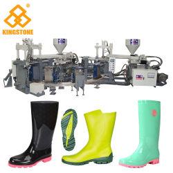 Machine de moulage par injection rotative automatique pour la fabrication de bottes de pluie Pluie Gumboots chaussures en plastique PVC matériau en caoutchouc
