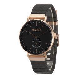 Luxury Relógios Personalizado relógio de pulso em aço inoxidável Mens Madeira Negócios Assista