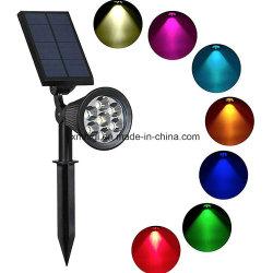 7 Lamp van de Schijnwerper van het Landschap van het Gazon van de Vlek van de Lamp van de LEIDENE Tuin van de ZonneMacht de Lichte Openlucht